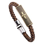 Men's Bracelet , Rock Hiphop Leather Alloy Circle Jewelry For Bar Going out