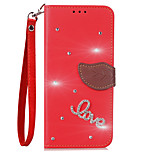 cheap -Case For Xiaomi Mi Max 2 Mi 6 Card Holder Wallet Rhinestone with Stand Flip Full Body Solid Color Hard PU Leather for Xiaomi Mi Max 2