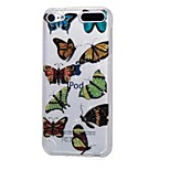 cheap -Case For Apple Ipod Touch5 / 6 Case Cover High Penetrating Powder IMD Black Flower Butterfly Soft TPU Phone Case
