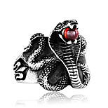 Men's Statement Rings Cubic Zirconia Fashion Oversized Cool Titanium Steel Irregular Jewelry Daily Street