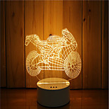cheap -1 Set Of 3D Mood Night Light Hand Feeling Dimmable USB Powered Gift Lamp Motorcycle