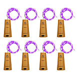 8pcs BRELONG 8LED Wine Bottle Copper Copper For Christmas Wedding Party Decorations