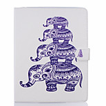 cheap -Case For Apple iPad Air 2 iPad mini 4 Card Holder Wallet with Stand Full Body Elephant Hard PU Leather for iPad Pro 9.7'' iPad Air 2 iPad