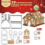 Недорогие -10pcs 3d нержавеющая сталь рождественский бисквит печенье пресс-форма для выпечки diy