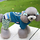 Dog Jumpsuit Dog Clothes Casual/Daily Letter & Number Blue Red Purple Costume For Pets