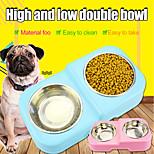 Недорогие -Кошка Собака Миски Животные Чаши и откорма Компактность Прочный Зеленый Синий Розовый