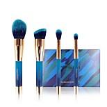cheap -4 pcs Makeup Brush Set Blush Brush Eyeshadow Brush Powder Brush Foundation Brush Pony Synthetic Hair Eco-friendly Professional Soft