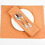 cheap -Elegant Cotton/Polyester Rectangle Placemat Table Decorations