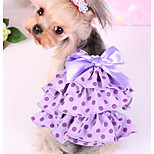 Dog Dress Dog Clothes Casual/Daily Polka Dot Pink Purple