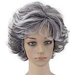 Недорогие -hairjoy жен. Парики из искусственных волос Короткий Кудрявый Серый Стрижка каскад Парик из натуральных волос Парики к костюмам