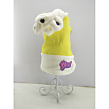cheap -Cat Dog Jumpsuit Dog Clothes Casual/Daily Keep Warm Animal Yellow Costume For Pets