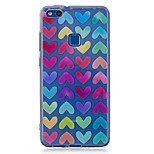 cheap -Case For Huawei P8 Lite (2017) P10 Lite Pattern Back Cover Heart Soft TPU for P10 Lite P10 P8 Lite (2017)