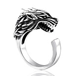 Недорогие -Муж. Массивные кольца Цирконий Крупногабаритные Cool Мода Титан Сталь Бижутерия Повседневные Для улицы