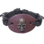cheap -Men's Bracelet , Metallic Oversized Rock Leather Alloy Circle Skull Jewelry Gift Going out