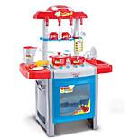 abordables -Jeu de Rôle Sets Jouet Cuisine Toy Vaisselle et ensembles de thé Cooking Appliances Kids Jouets Jouets Eclairage LED Son Fille 22 Pièces