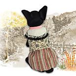 Недорогие -Собака Толстовка Комбинезоны Платья Одежда для собак Стиль Сохраняет тепло Для отдыха Тонка шерсть Желтый Костюм Для домашних животных