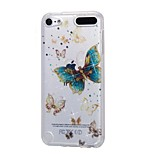 cheap -Case For Apple Ipod Touch5 / 6 Case Cover High Penetrating Powder IMD Gold Butterfly Soft TPU Phone Case