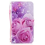 cheap -Case For Huawei Mate 10 lite Mate 10 Card Holder Wallet with Stand Flip Full Body Flower Hard PU Leather for Mate 10