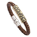 Men's Bracelet , Fashion Rock Leather Alloy Circle Jewelry For Going out