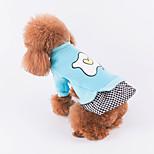 Недорогие -Собака Платья Одежда для собак На каждый день В клетку Красный Синий Розовый Костюм Для домашних животных