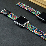 Watch Band for Apple Watch Series 3 / 2 / 1 Apple Wrist Strap Classic Buckle Modern Buckle Nylon Genuine Leather