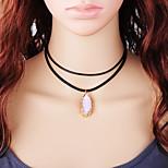 Недорогие -Жен. Мода Ожерелья-бархатки , Шнур Камень Ожерелья-бархатки , Повседневные