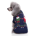 Недорогие -Кошка Собака Свитера Одежда для собак На каждый день Рождество Новогодняя тематика Темно-синий Костюм Для домашних животных