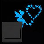 Недорогие -Животные люди Наклейки Простые наклейки Наклейки для выключателя света,Винил Украшение дома Наклейка на стену Переключения