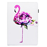 cheap -Case For Apple iPad 10.5 iPad (2017) Card Holder with Stand Flip Pattern Full Body Flamingo Hard PU Leather for iPad Pro 10.5 (2017) iPad
