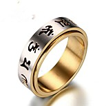 cheap -Men's Band Rings , Vintage Stainless Steel Circle Jewelry Gift Daily