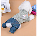 Dog Jumpsuit Dog Clothes Casual/Daily Letter & Number Pink Green Costume For Pets