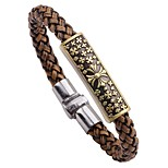 cheap -Men's Bracelet , Rock Hiphop Leather Alloy Circle Jewelry For Date Going out
