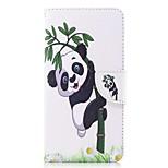 Недорогие -Кейс для Назначение OnePlus OnePlus 5T Бумажник для карт Кошелек со стендом Флип С узором Магнитный Чехол Панда Твердый Искусственная кожа