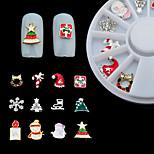 Недорогие -Орнаменты Инструменты сделай-сам Художественный В снежинку Рождество Разноцветный Как рисунок (цвет может варьироваться от монитора)
