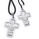 Муж. Жен. Ожерелья с подвесками , Крест Шнур Классика Милый Бижутерия Назначение Повседневные На выход