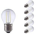 Недорогие -6шт 2W 250/200lm E27 LED лампы накаливания P45 2 светодиоды COB Светодиодные фонарики Тёплый белый Холодный белый 6500/2700K AC 220-240V