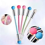 Недорогие -1pc новый стиль маникюр инструменты затенение ручка силиконовой головки двойной конец может изменить градиент ручка шариковая ручка цвет