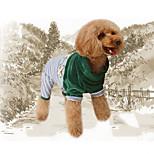 Недорогие -Собака Комбинезоны Одежда для собак Стиль Сплошной Для отдыха Полоски Пэчворк Красный Синий Костюм Для домашних животных