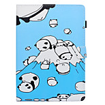 cheap -Case For Apple iPad 10.5 iPad (2017) Card Holder Shockproof with Stand Flip Auto Sleep/Wake Up Full Body Cases Panda Hard PU Leather for