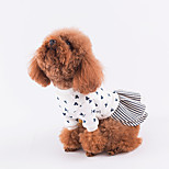 Dog Dress Dog Clothes Casual/Daily Print Blue Red Costume For Pets