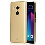 Недорогие -Кейс для Назначение HTC Ультратонкий Матовое Задняя крышка Сплошной цвет Твердый PC для HTC U11 plus