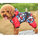 Dog Jumpsuit Dog Clothes Casual/Daily Hearts Black Costume For Pets
