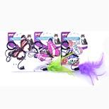 Недорогие -кот домашнее животное тизер животное дружелюбный писк / скрипучий бабочка прекрасный красочный каучук для домашних животных