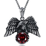 cheap -Men's Wings / Feather Vintage Hiphop Pendant Necklace Synthetic Diamond Stainless Steel Pendant Necklace , Evening Party Date