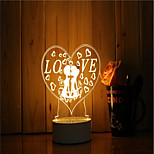 cheap -1 Set Of 3D Mood Night Light Hand Feeling Dimmable USB Powered Gift Lamp Romantic Love