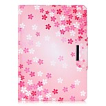 cheap -Case For Apple iPad Air 2 iPad mini 4 Card Holder Wallet with Stand Full Body Flower Hard PU Leather for iPad 9.7 (2017) iPad Air 2 iPad