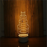 cheap -1 Set Of 3D Mood Night Light Hand Feeling Dimmable USB Powered Gift Lamp Birthday Cake