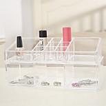 Недорогие -Коробка с косметикой Others Хранение косметики Прозрачный Мода Квадрат Пластик