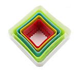 Недорогие -5 шт / комплект 5 размеров квадратная форма для выпечки пластиковая печенья пресс-формы кухонные инструменты выпечка