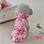 Кошка Собака Плащи Жилет Одежда для собак Стиль На каждый день Сохраняет тепло Животные Желтый Синий Розовый Костюм Для домашних животных